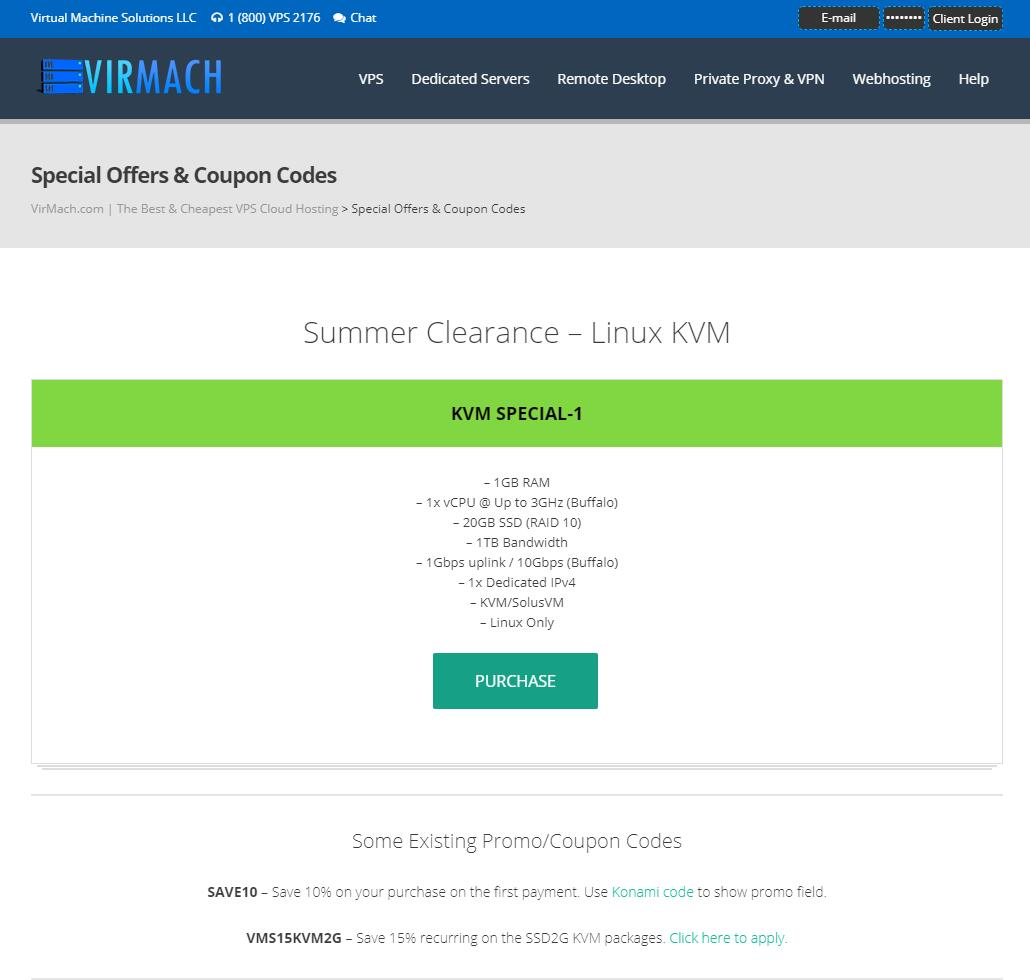 #促销#virmach:2019年夏季VPS清货促销,多机房,超低价格,支付宝+PayPal插图