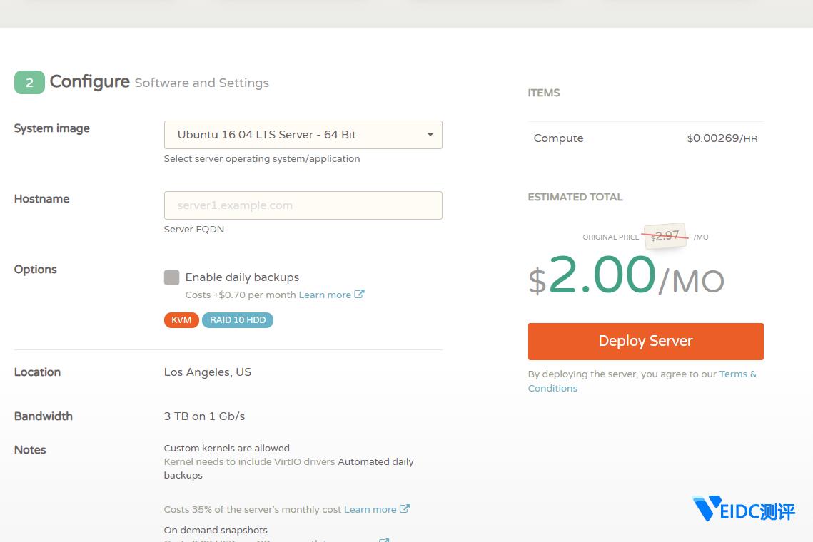 #限量补货#CloudCone便宜VPS:KVM构架,美国CN2 GT直连,月流量3TB,特价2美元/月起插图