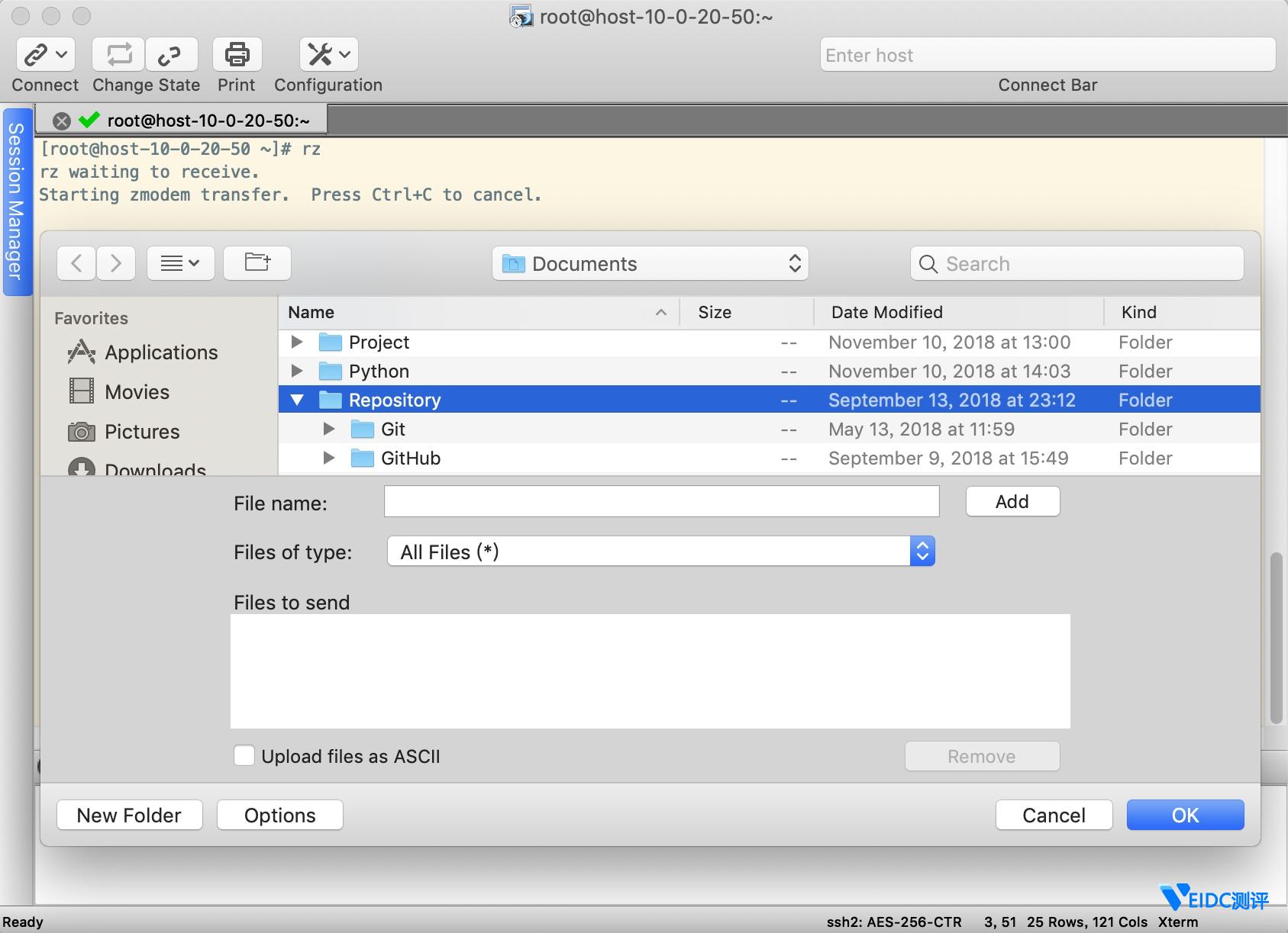Linux下通过SecureCRT的rz、sz和sftp实现文件的上传和下载插图