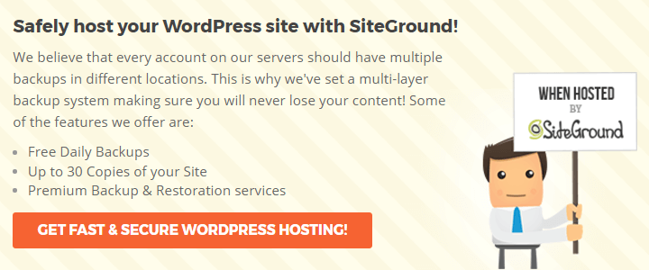 Safely host your WordPress site with SiteGround