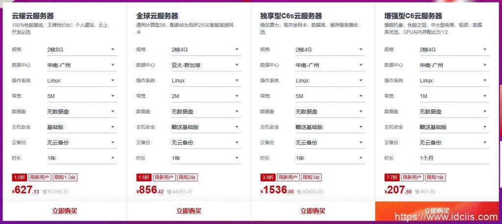 #11.11#华为云:上云嘉年华,1核2G云服务器88元/年,COM域名1年只要18元,满额送华为Mate40插图2