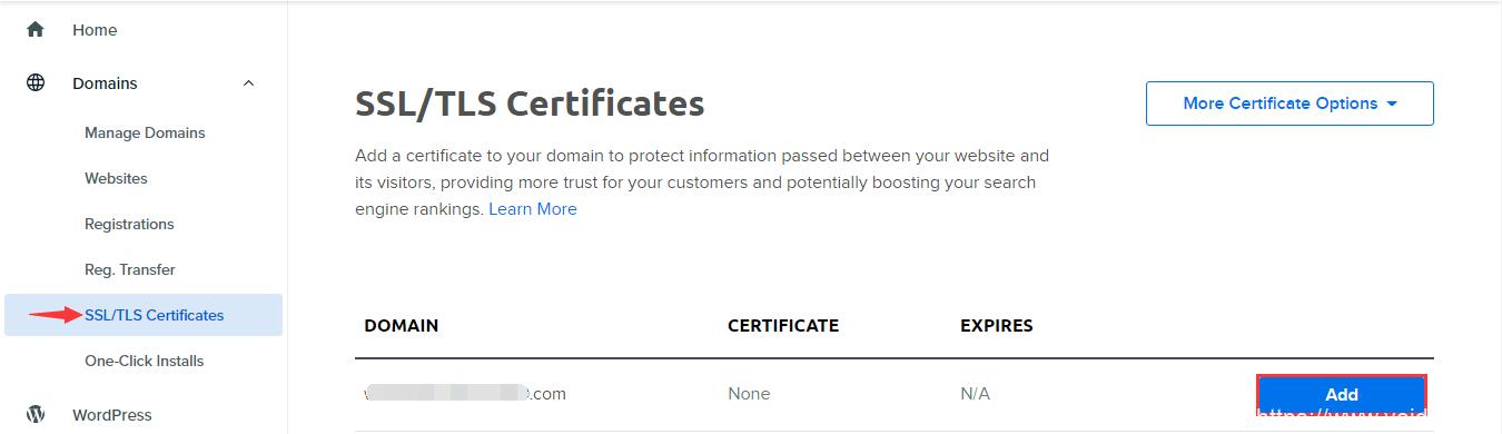 使用DreamHost主机如何给网站安装SSL证书,开通HTTPS插图1