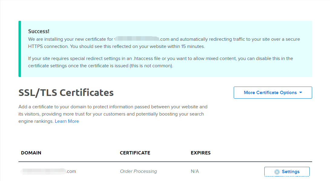 使用DreamHost主机如何给网站安装SSL证书,开通HTTPS插图3
