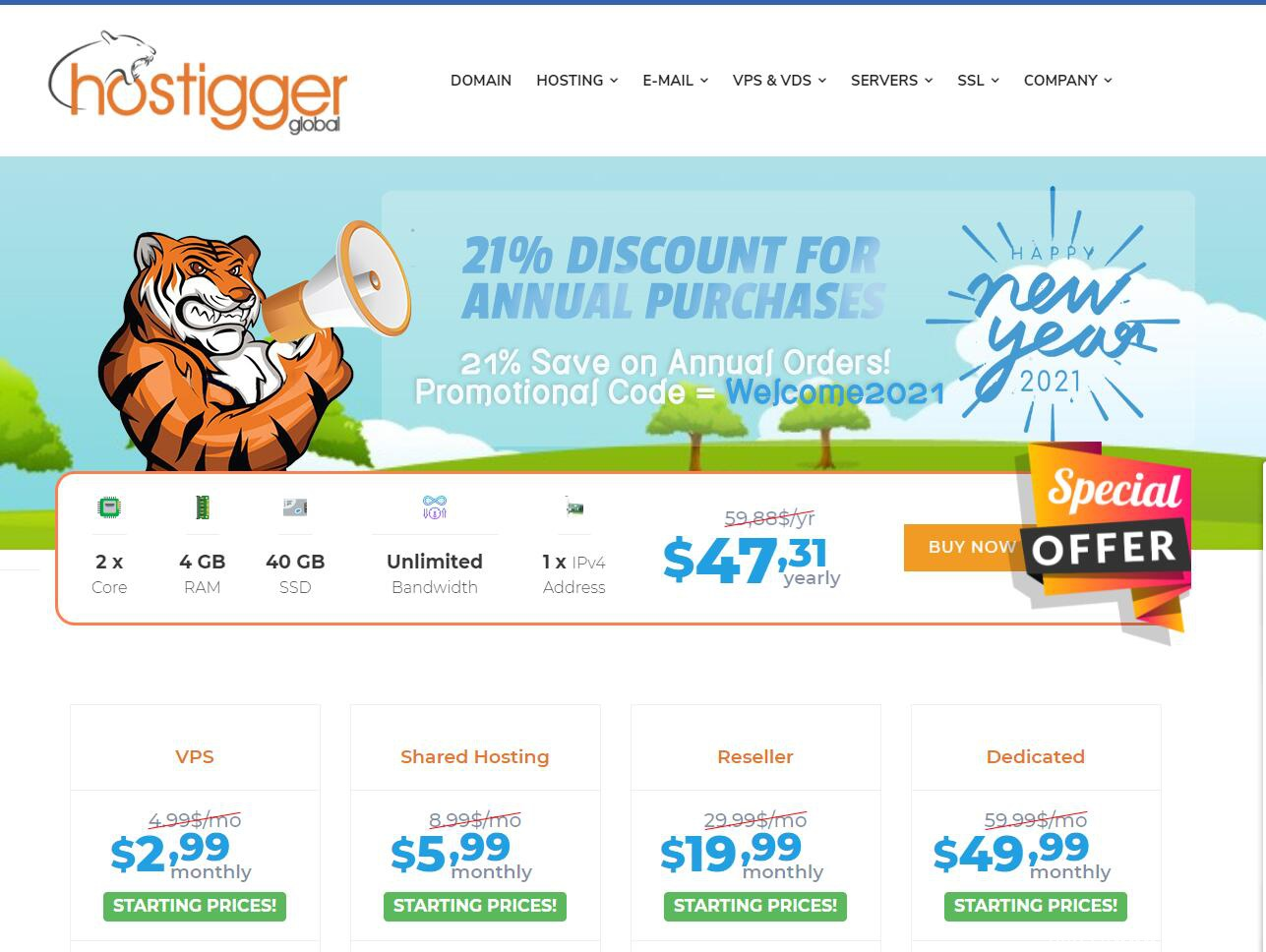Hostigger新年促销:美国/荷兰/土耳其VPS全场79折,$28.33/年起,支持支付宝插图