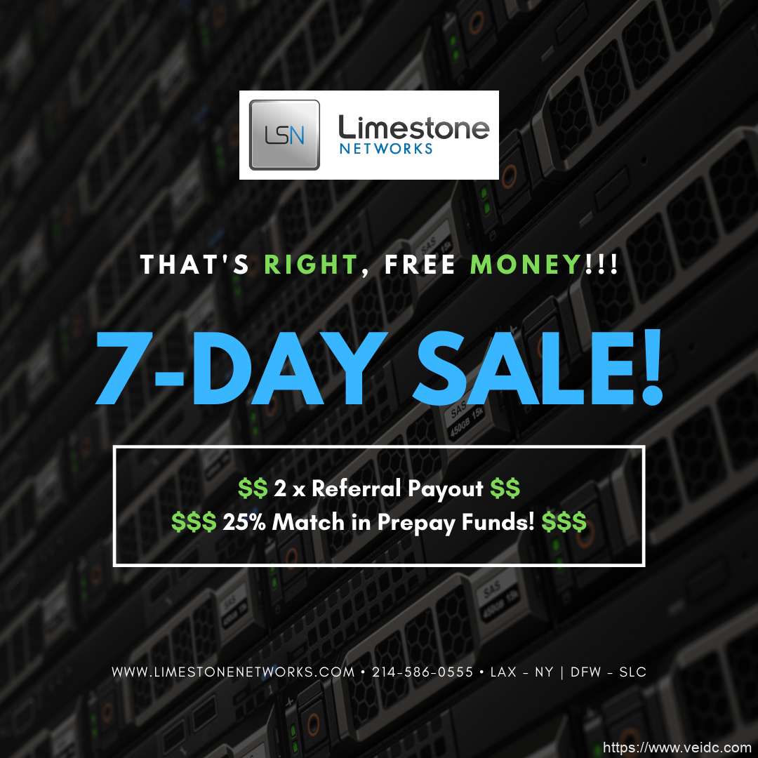 limestonenetworks独服2021年最新促销1Gbps带宽,E-2234+32GB内存,低至$97/月可选纽约、洛杉矶或达拉斯机房/充值返25%金额插图