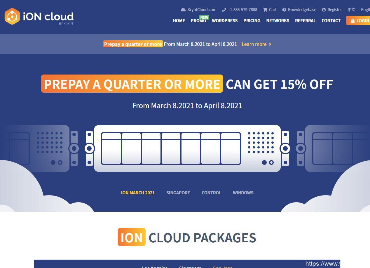iON Cloud优惠最后两天/洛杉矶CN2 GT、圣何塞CN2 GT循环8.5折,可选Windows系统,季付低至$37 附洛杉矶VPS最新测评插图
