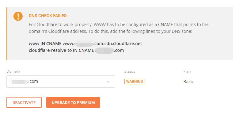 dns check failed
