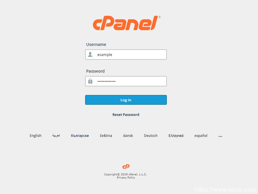 cPanel登录