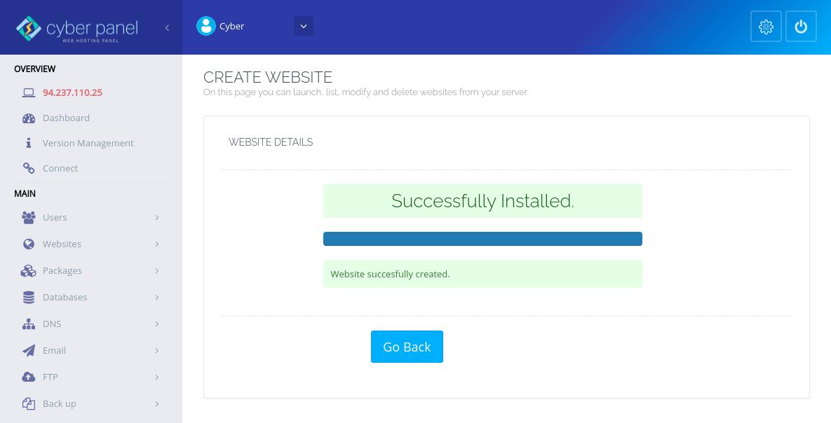 CyberPanel主机名SSL