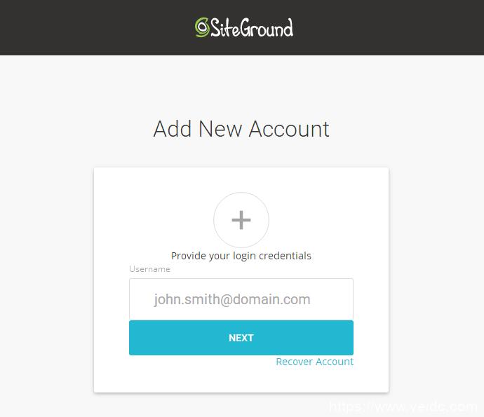 siteground新后台登陆