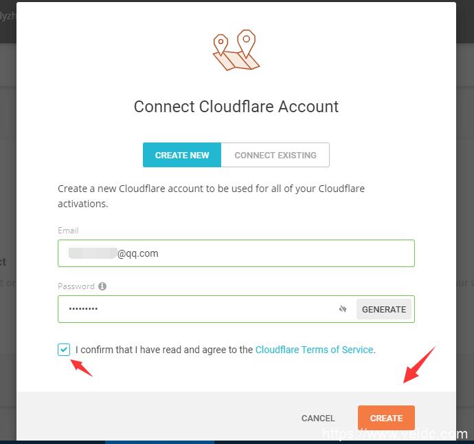 cloudflare CDN新账号