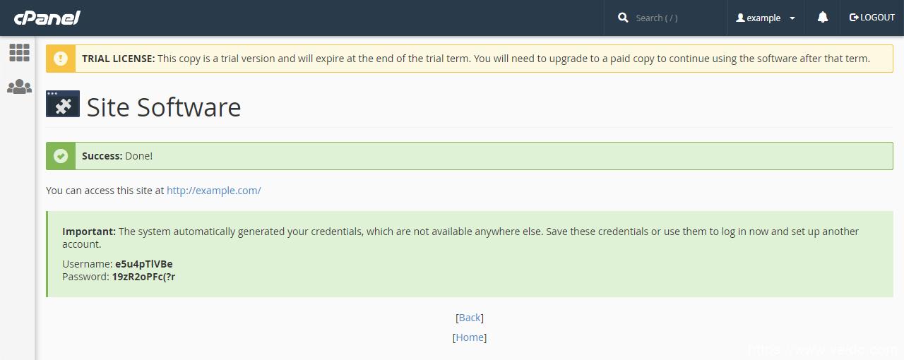 安装了cPanel WP网站