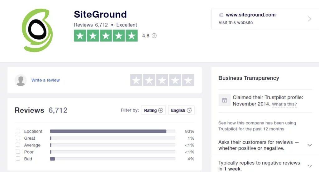 SiteGround点评