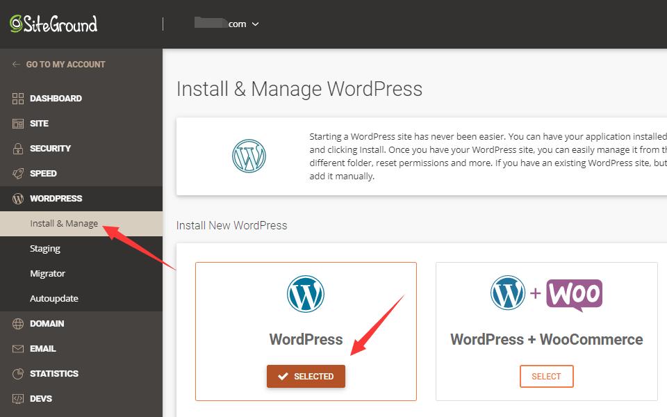 选择wordpress
