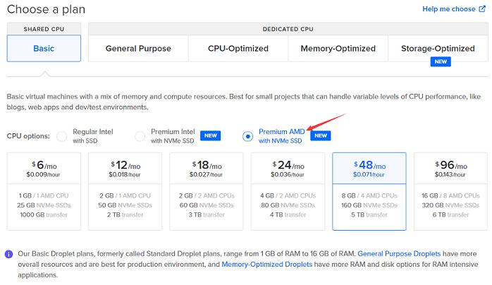 DigitalOcean:AMD VPS 上线,NVMe 硬盘,1 核 1G 内存 1TB 流量 alt=