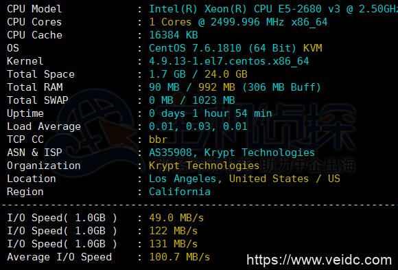 iON Cloud优惠最后两天/洛杉矶CN2 GT、圣何塞CN2 GT循环8.5折,可选Windows系统,季付低至$37 附洛杉矶VPS最新测评插图1